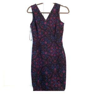 Banana Republic Sleeveless Dress - purple and blue
